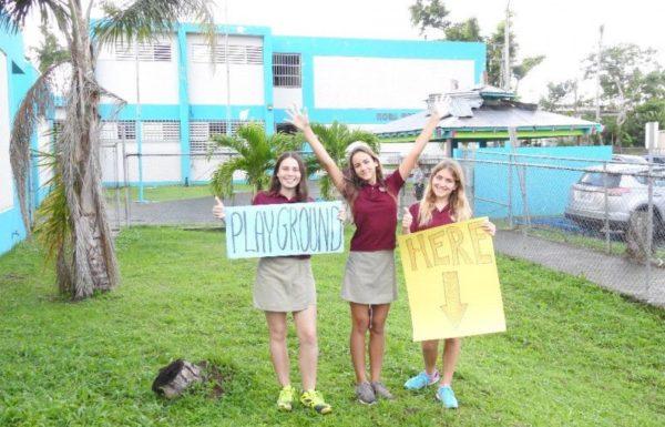 three private school students