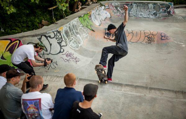 skater in halfpipe