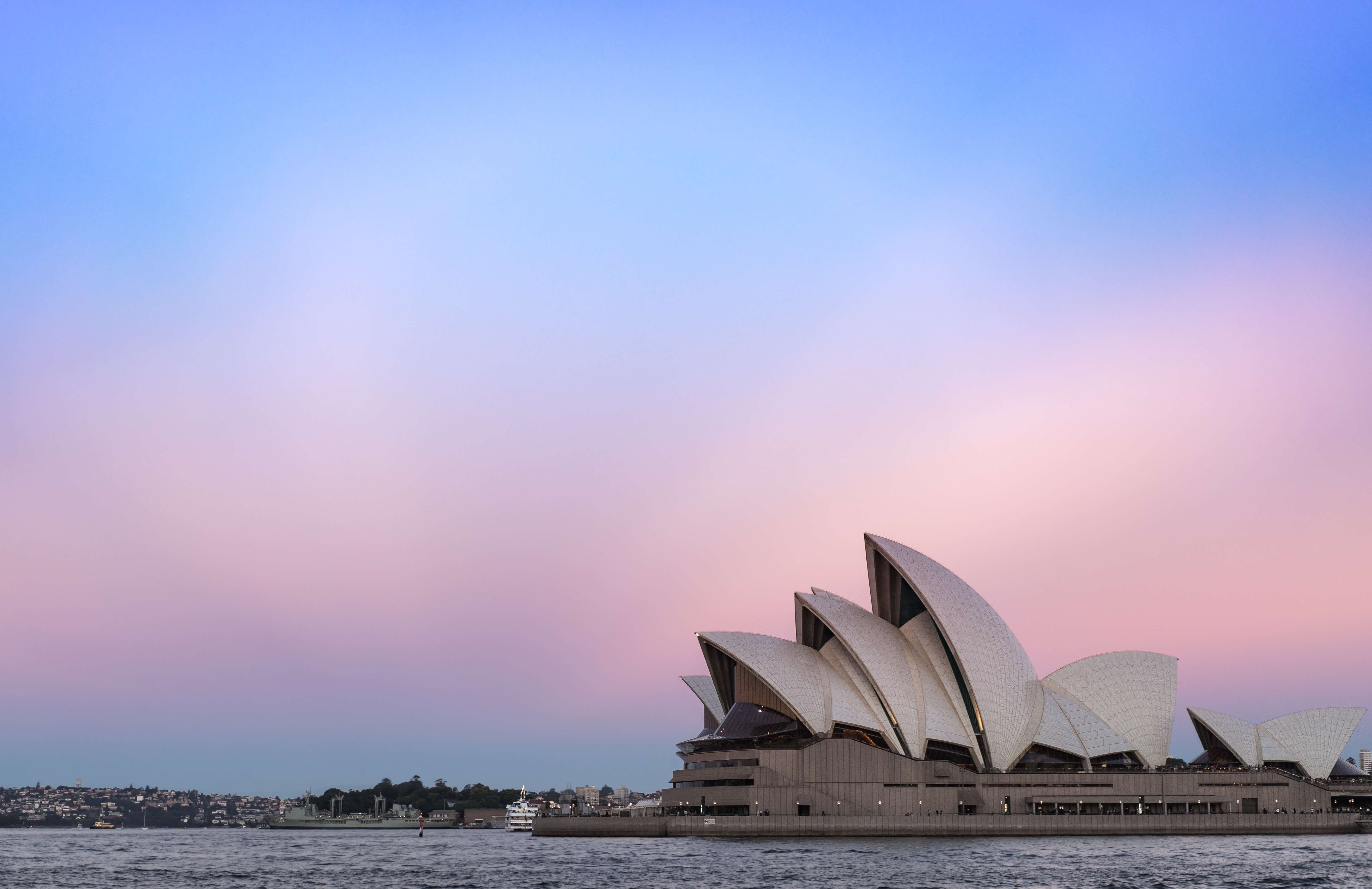 sunset over sydney opera house