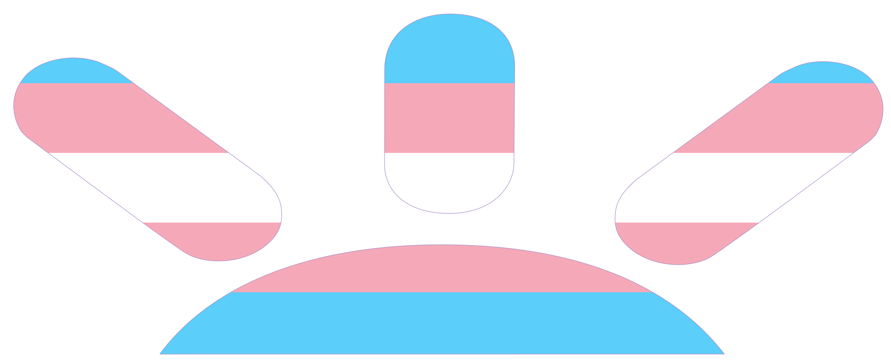 gofundme logo with trans colors