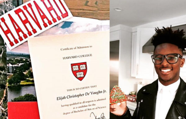 recent high school grad excited he got a college acceptance letter