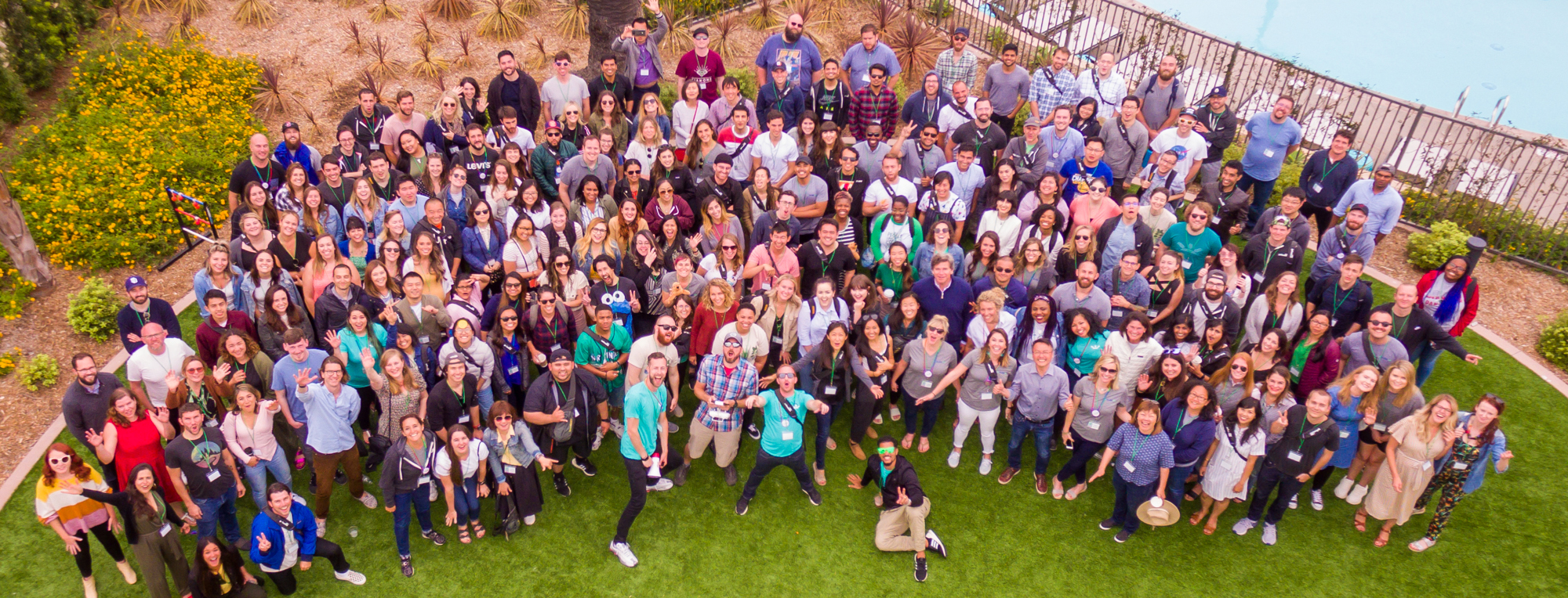 gofundme employee photo shot with drone