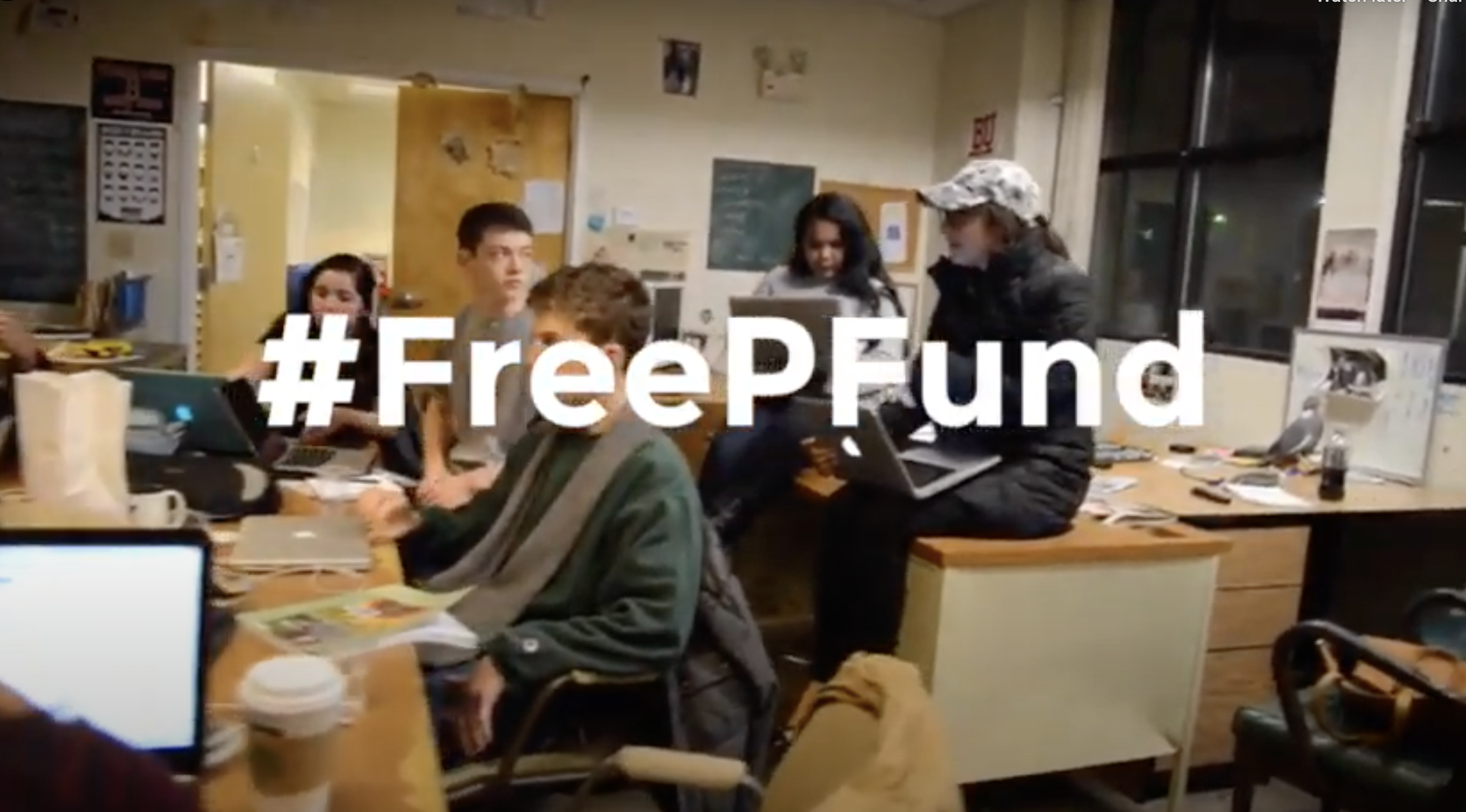 screenshot of the daily press fund video with hashtag