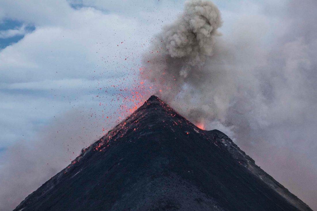 Guatemala's Fuego fire erupting
