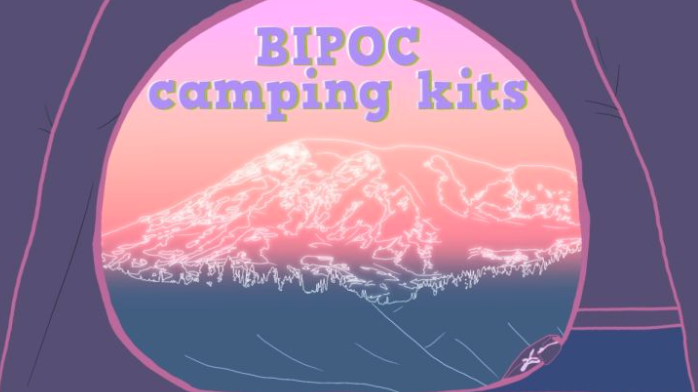 camping gear for bipoc graphic