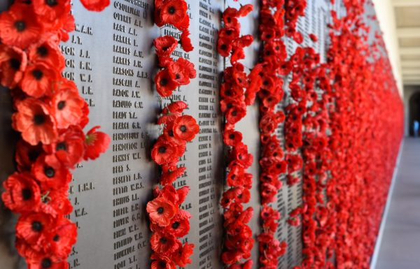 Poppies on a plaque
