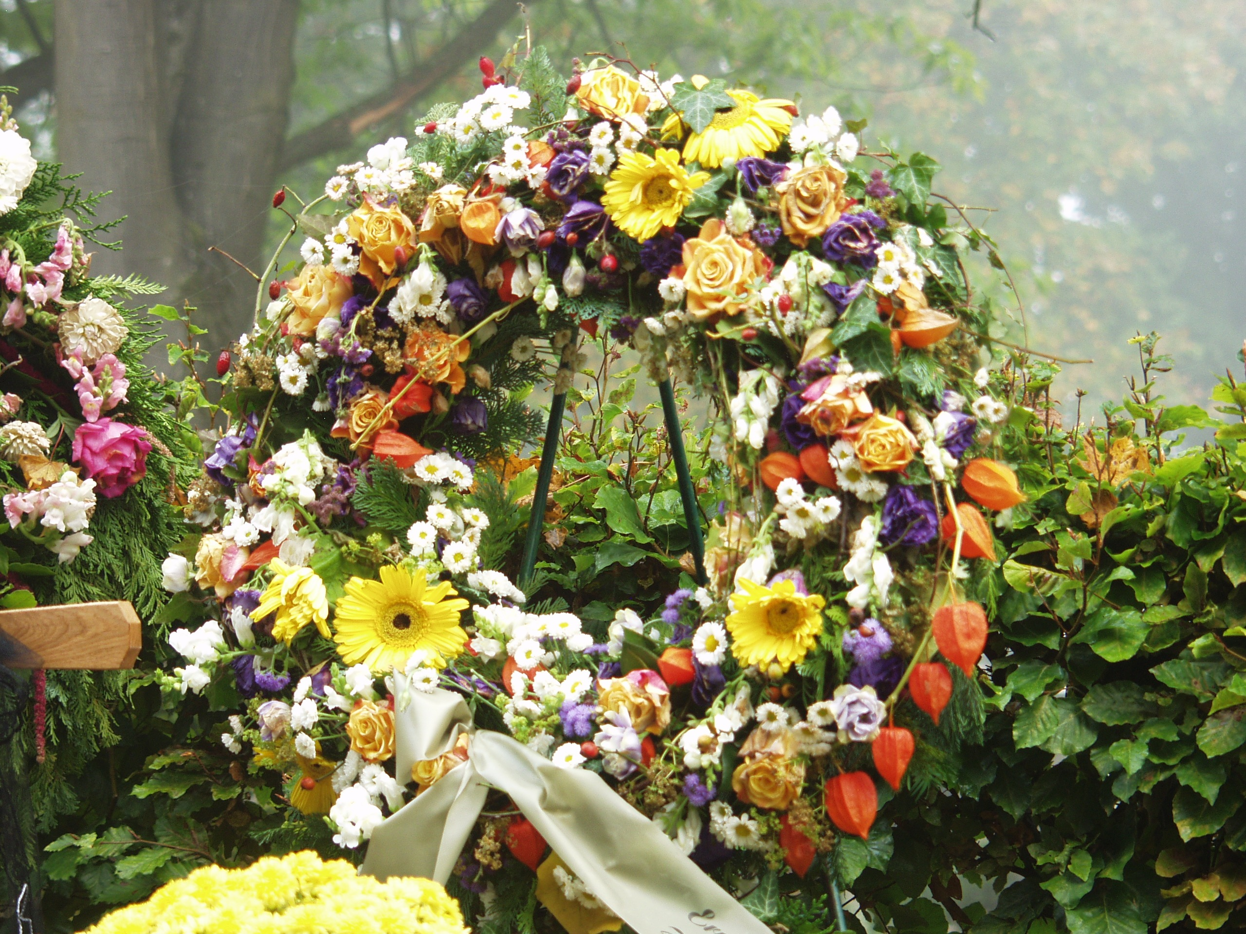 A floral wreath