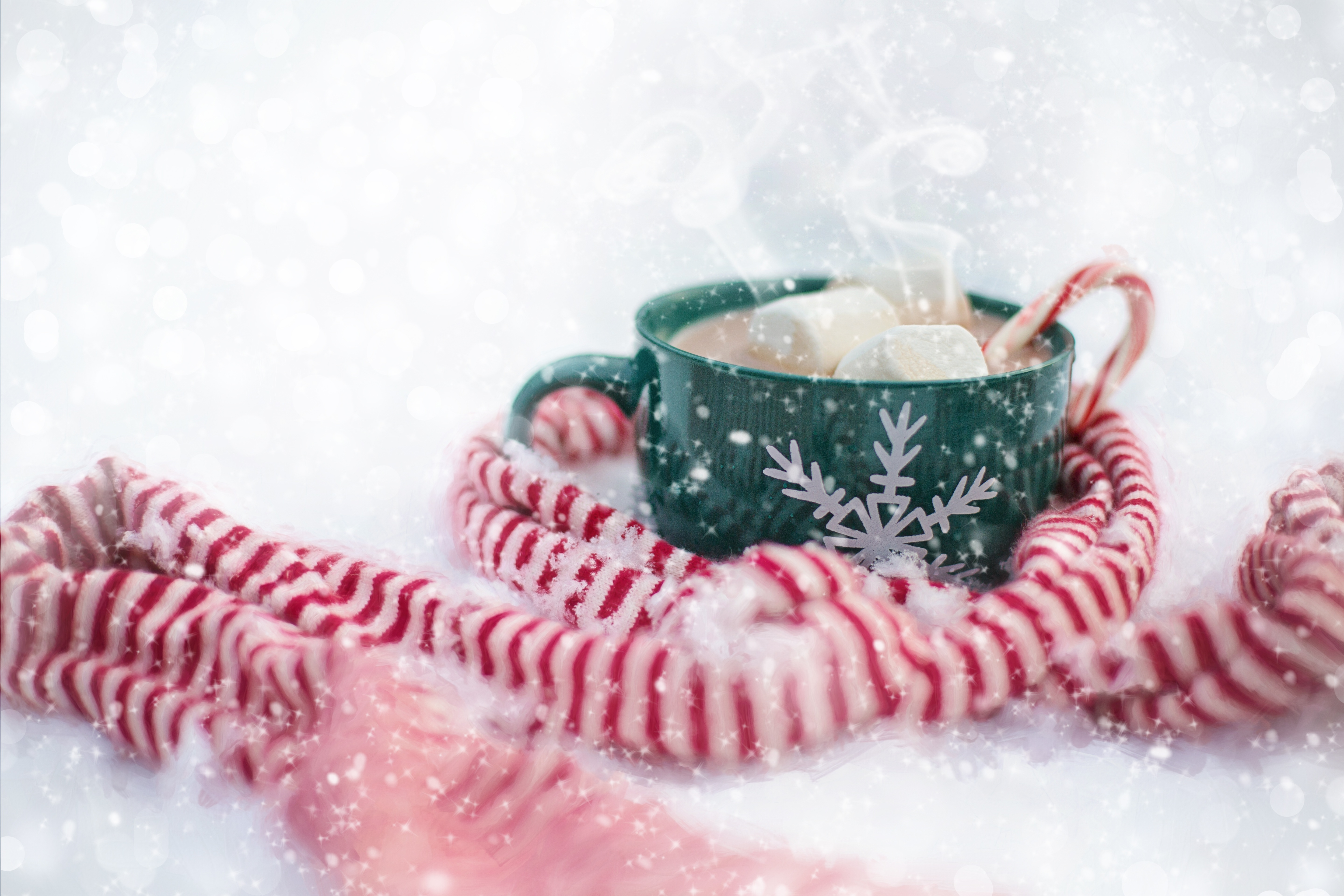 Coffee wrapped in scarf