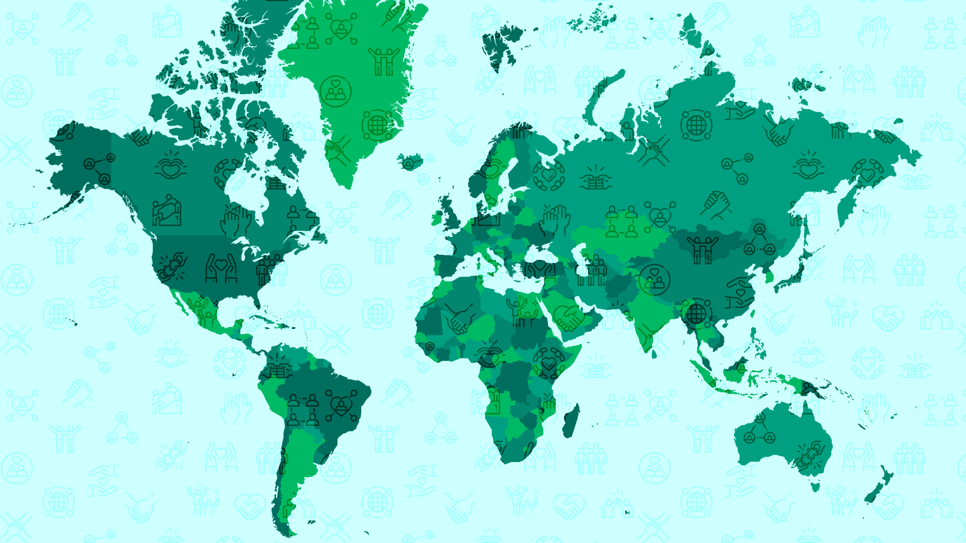 map of the world in green