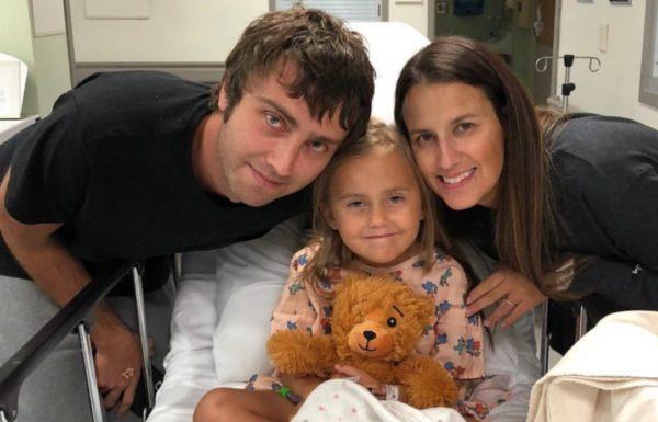 parents avec leur fille à l'hopital