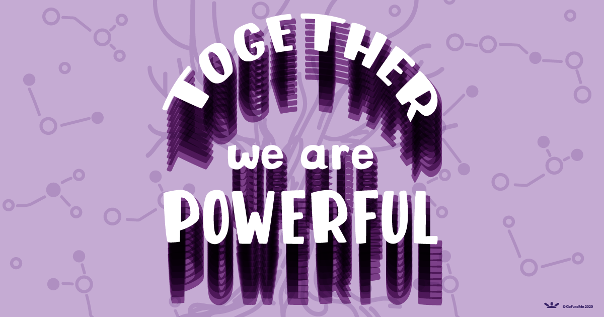 together we are powerful handlettered